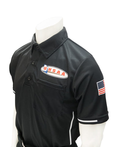 "USA310UT - Smitty ""Made in USA"" - Ump Shirt Logo Above Pocket Black"
