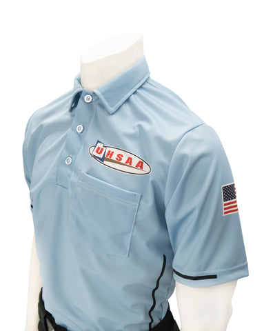 "USA310UT - Smitty ""Made in USA"" - Baseball Men's Short Sleeve Shirt Powder Blue"
