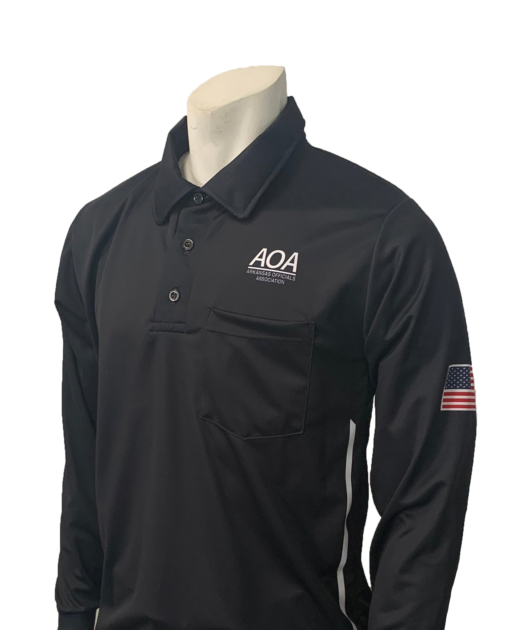"USA311AR-BK - Smitty ""Made in USA"" - ""AOA"" Long Sleeve Black Umpire Shirt"