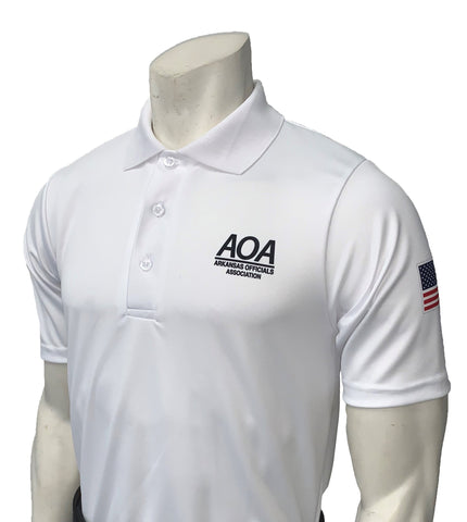 "USA400AR - Smitty ""Made in USA"" -AOA Men's Short Sleeve WHITE Volleyball Shirt"