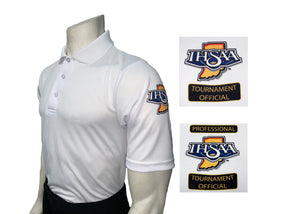 "USA400IN - Smitty ""Made in USA"" - IHSAA Men's Short Sleeve WHITE Volleyball and Swimming  Shirt"