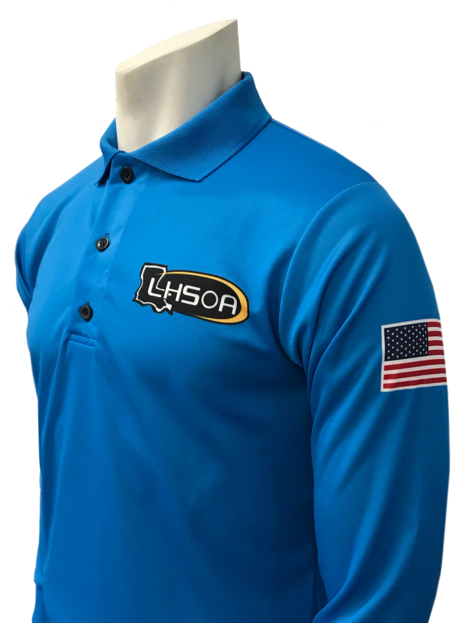 "USA401LA - Smitty ""Made in USA"" - BRIGHT BLUE - Volleyball Men's Long Sleeve Shirt"