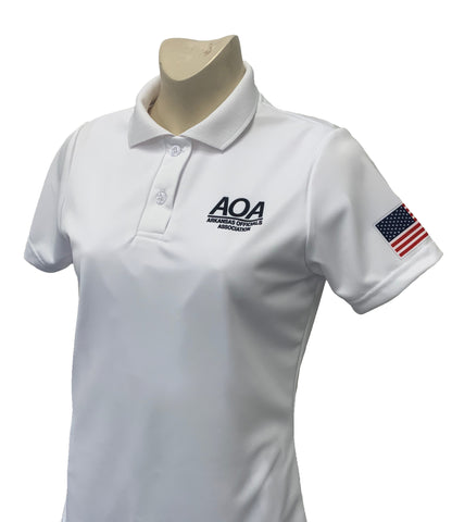 "USA402AR - Smitty ""Made in USA"" -AOA Women's Short Sleeve WHITE Volleyball Shirt"