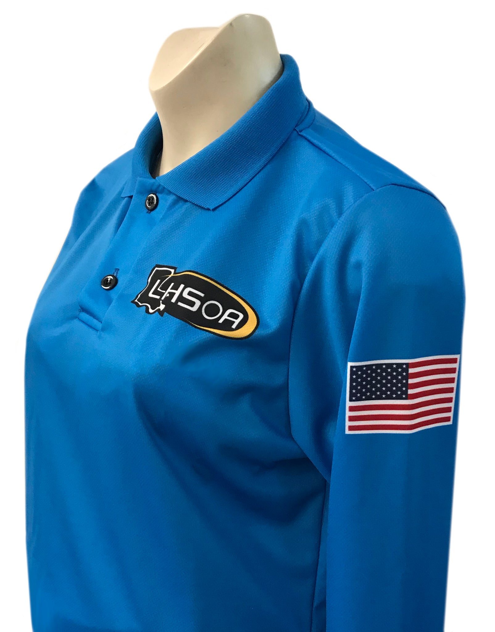 "USA403LA - Smitty ""Made in USA"" - BRIGHT BLUE - Volleyball Women's Long Sleeve Shirt"