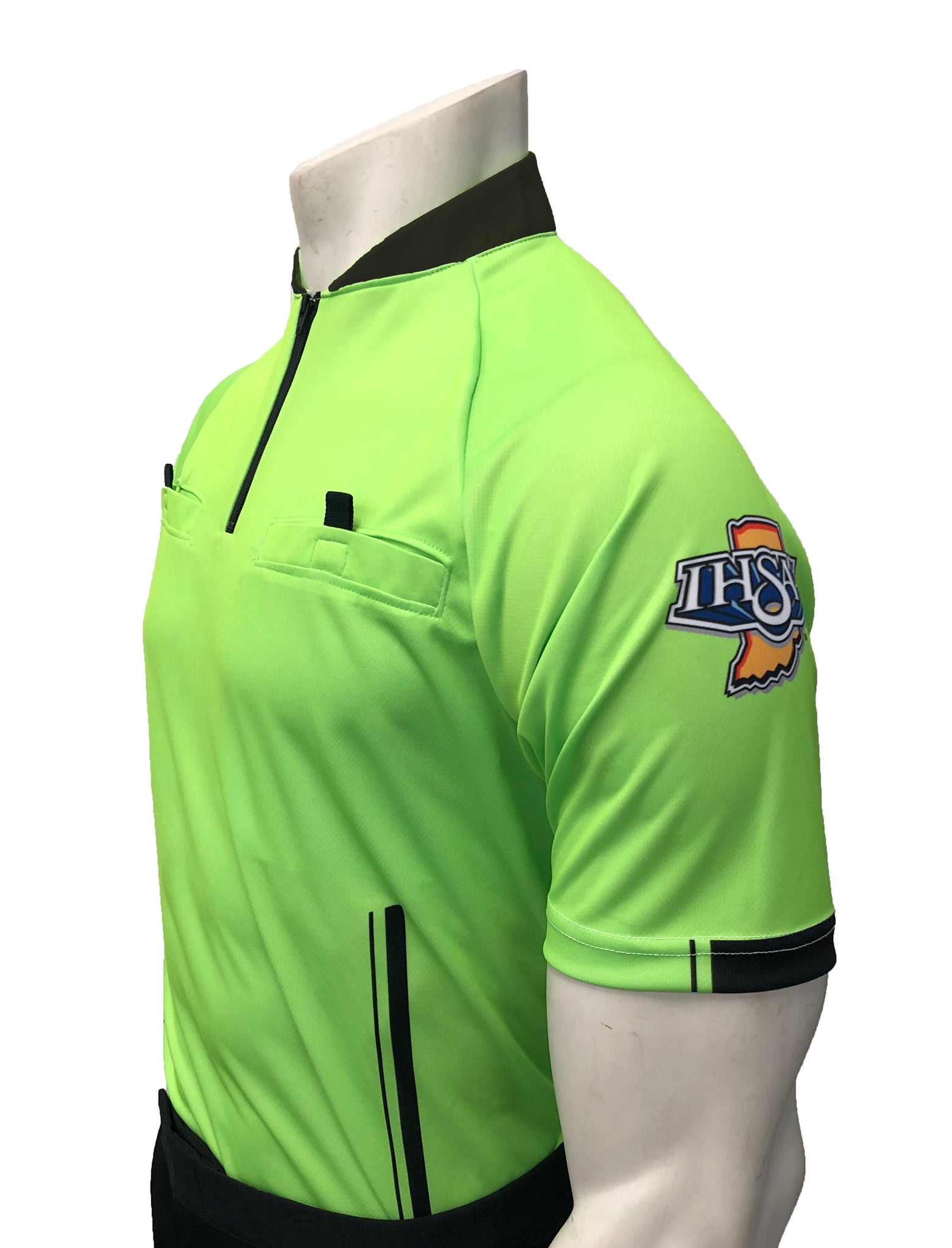 "USA900IN-FG- Smitty ""Made in USA"" - ""PERFORMANCE MESH"" ""IHSAA"" Florescent Green Short Sleeve Soccer Shirt"