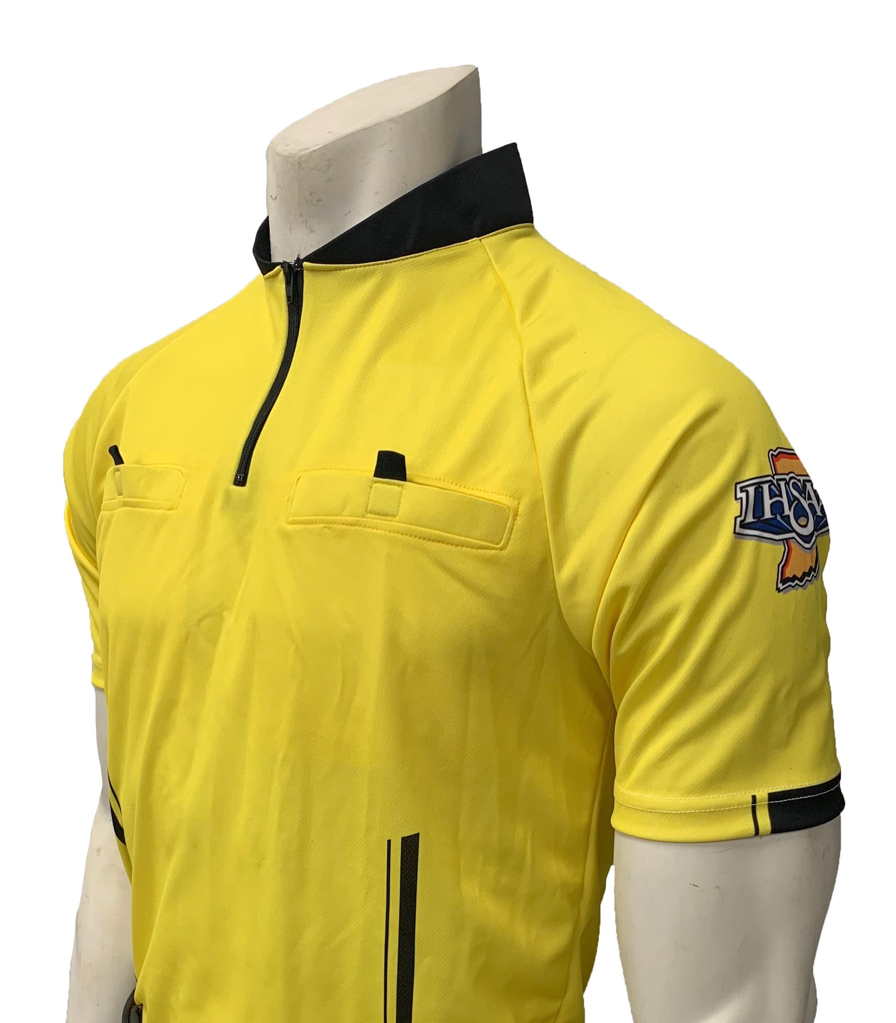 "USA900IN-YW- Smitty ""Made in USA"" - ""PERFORMANCE MESH"" ""IHSAA"" Yellow Short Sleeve Soccer Shirt"