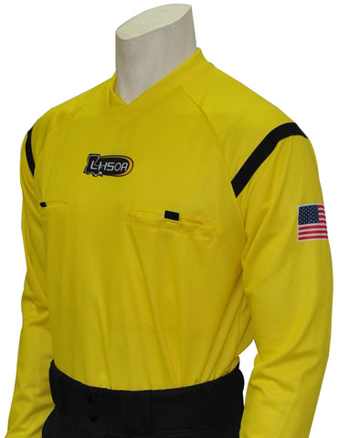"USA901LA YW - Smitty ""Made in USA"" - Dye Sub Louisiana Yellow Soccer Long Sleeve Shirt"