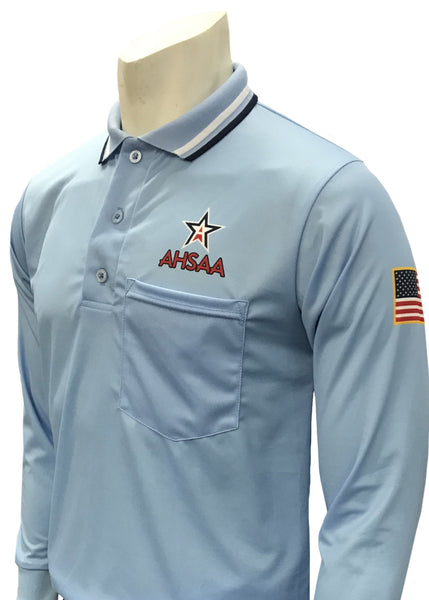 "USA301AL - Smitty ""Made in USA"" - Dye Sub Alabama Baseball Long Sleeve Shirt - Available in Navy, Powder Blue, and Black"