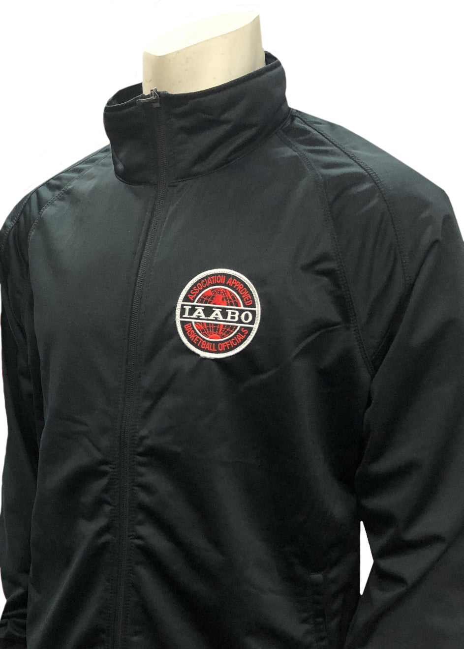 I-232 - IAABO Solid Black Front Zipper Jacket