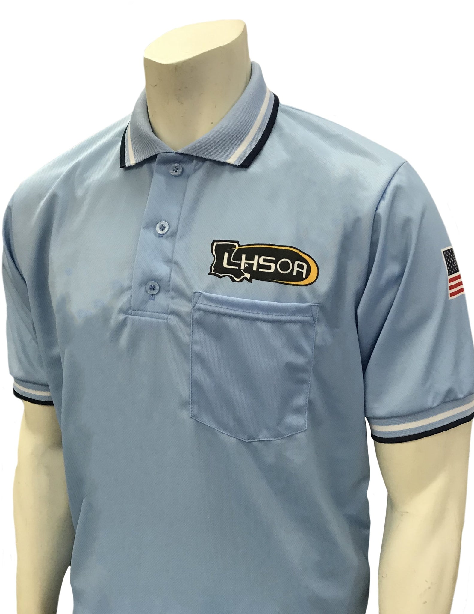 "USA300LA - Smitty ""Made in USA"" - Short Sleeve Baseball Shirt Powder Blue"