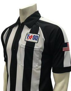 "USA106TASO-PL - Smitty ""Made in USA"" - ""TASO"" Short Sleeve Football Shirt w/Position Letter"