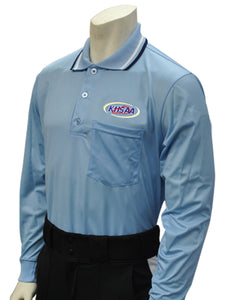 "USA301KY - Smitty ""Made in USA"" - Baseball Men's Long Sleeve Shirt Powder Blue"