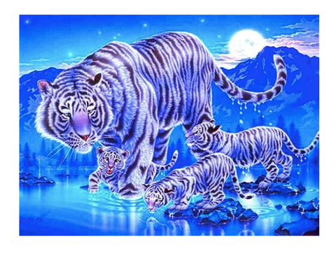 A tiger diamond painting.