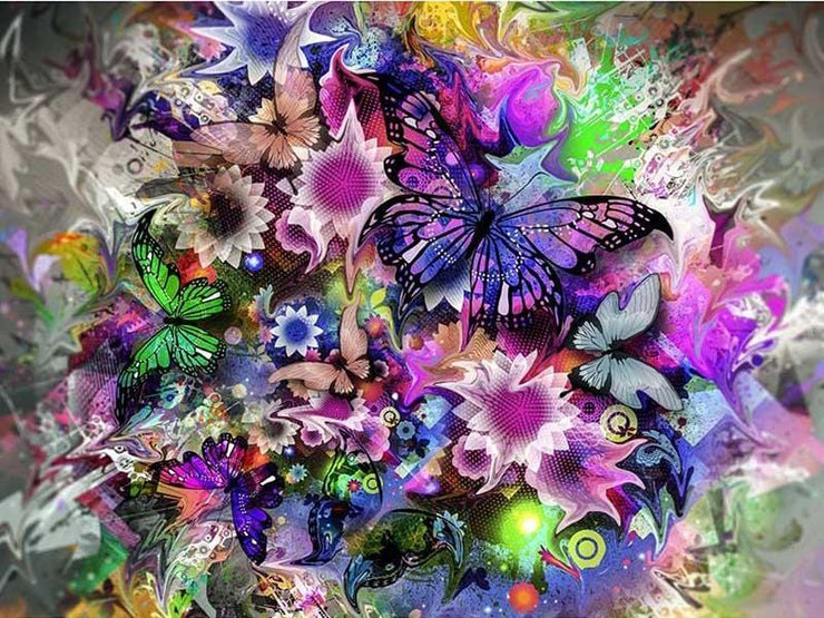 Color Splash Butterflies