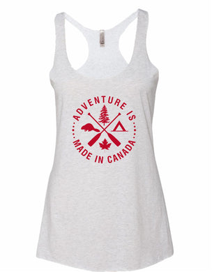 Ladies Adventure White Tank Top