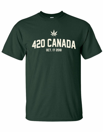 Mens 420 Green T-shirt