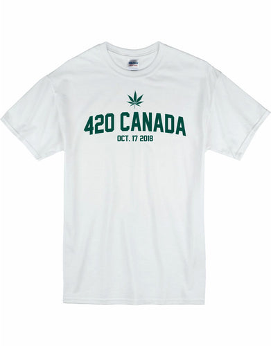 Mens 420 White T-shirt