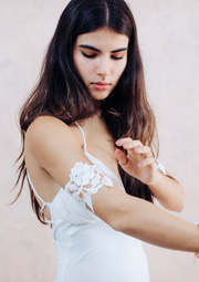 Floral sequin lace arm bracelet - bridal collection  Arm bracelet - StudioSharonGuy