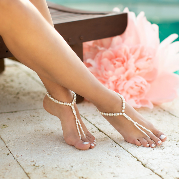 Pearls Barefoot Sandals - StudioSharonGuy - sandals - wedding dresses - beach - boho