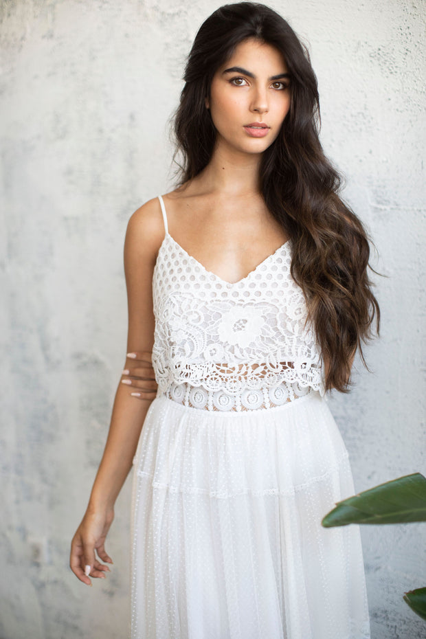 BOHO LACE BRIDAL TOP #1 - BRIDAL SEPARATES COLLECTION  Wedding Dress - StudioSharonGuy