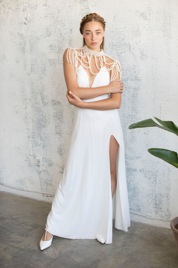 PEARL COVER-UP, TOP #8- BRIDAL SEPARATES COLLECTION  Wedding Dress - StudioSharonGuy