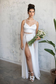PEARL EMBELLISHED TULLE BRIDAL TOP # 4- BRIDAL SEPARATES COLLECTION  Wedding Dress - StudioSharonGuy