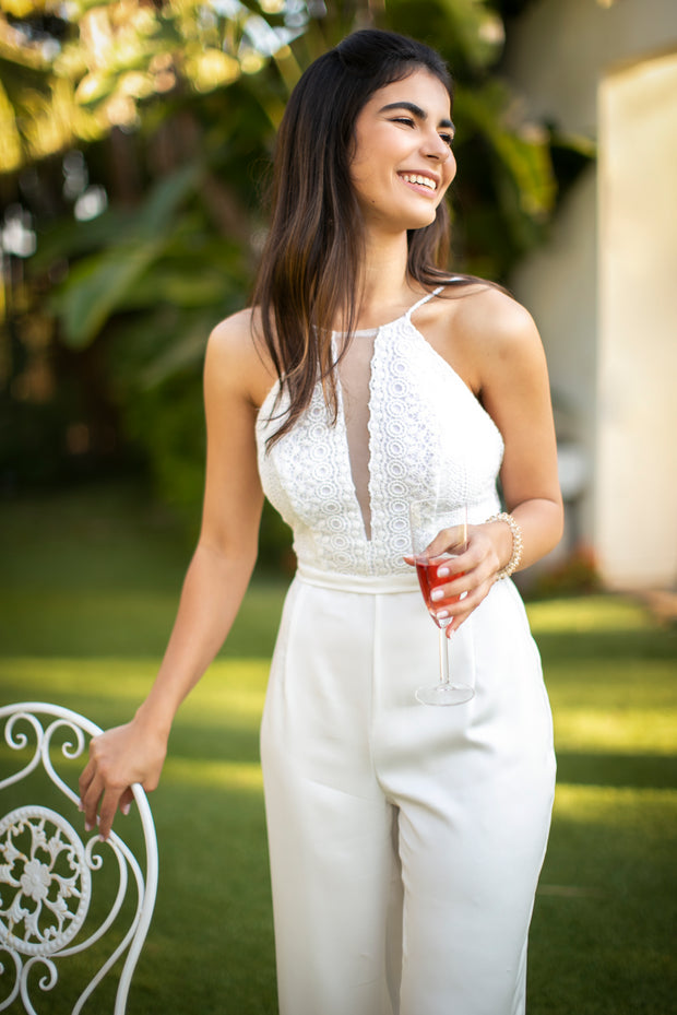 FIBI WEDDING JUMPSUIT - StudioSharonGuy - Wedding Dress - wedding dresses - beach - boho