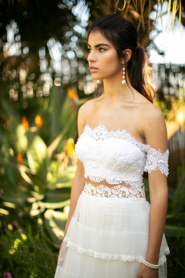 JANE TWO PIECE SET - StudioSharonGuy - Wedding Dress - wedding dresses - beach - boho