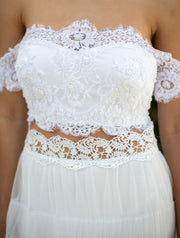 JANE TWO PIECE SET  Wedding Dress - StudioSharonGuy