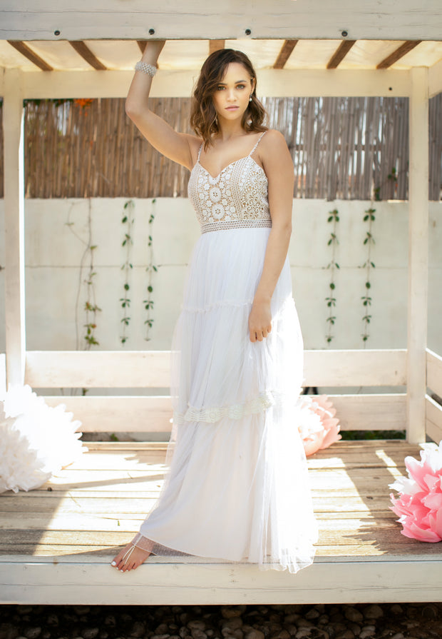 LIA WEDDING GOWN, boho wedding dress, beach wedding  Wedding Dress - StudioSharonGuy