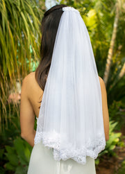 Elegant Shoulder Length Bridal Veil - StudioSharonGuy - Veils - wedding dresses - beach - boho