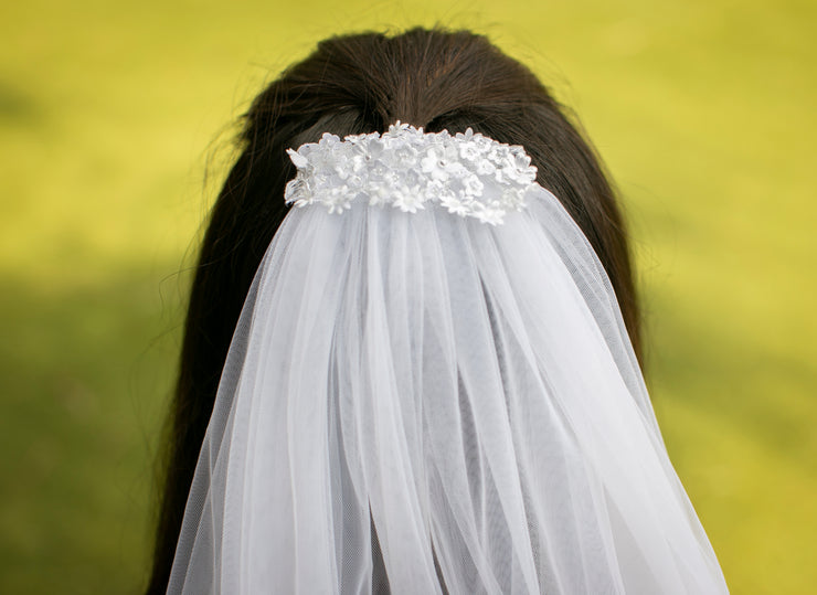Elegant Shoulder Length Bridal Veil  Veils - StudioSharonGuy