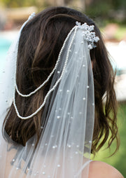 Romantic Veil with pearls - StudioSharonGuy - Veils - wedding dresses - beach - boho