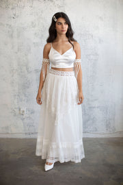 PLEATED CHIFFON MAXI SKIRT  #2- BRIDAL SEPARATES COLLECTION  Wedding Dress - StudioSharonGuy