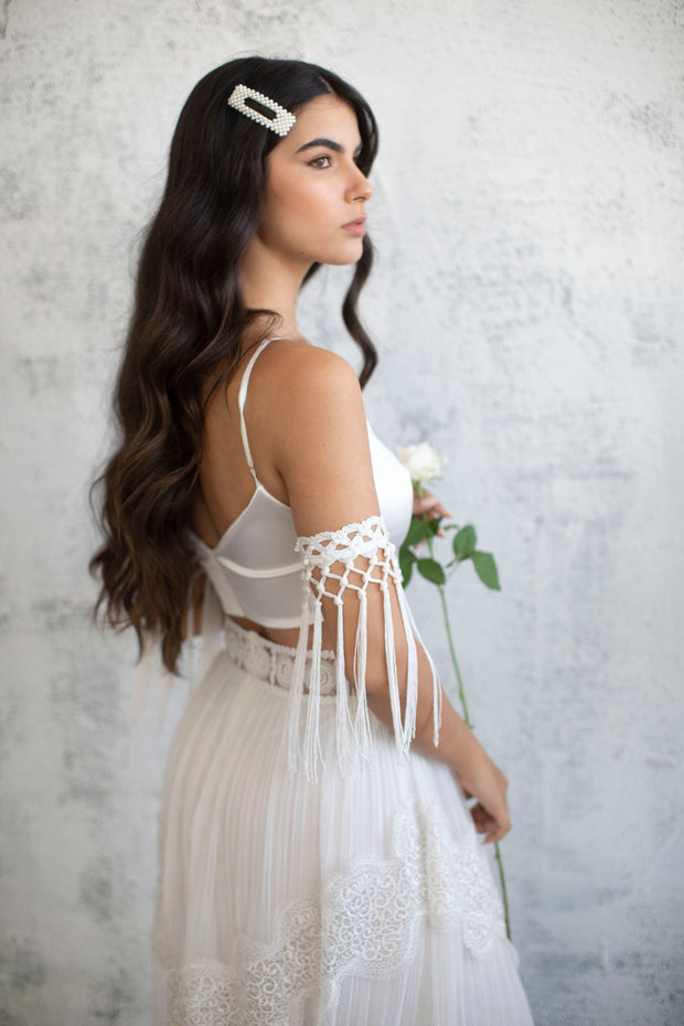 SILK SATIN BRIDAL TOP #2 - BRIDAL SEPARATES COLLECTION  Wedding Dress - StudioSharonGuy