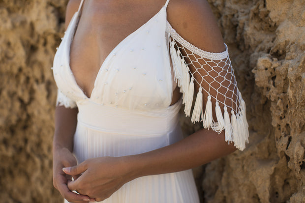 ALODIE BOHO WEDDING DRESS - StudioSharonGuy - Wedding Dress - wedding dresses - beach - boho