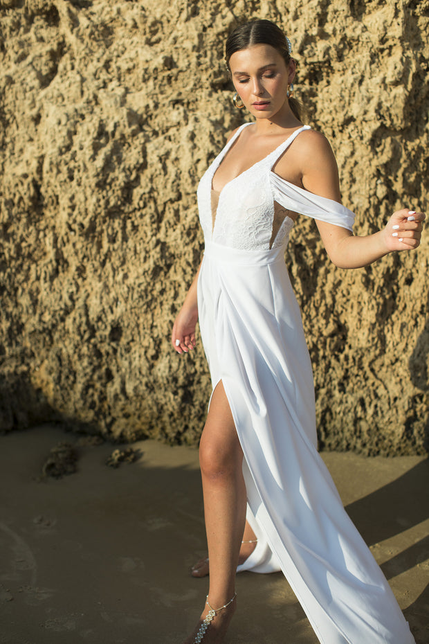 CORA WEDDING JUMPSUIT  Wedding Dress - StudioSharonGuy