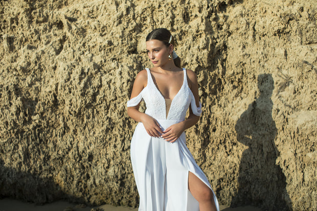 CORA WEDDING JUMPSUIT - StudioSharonGuy - Wedding Dress - wedding dresses - beach - boho