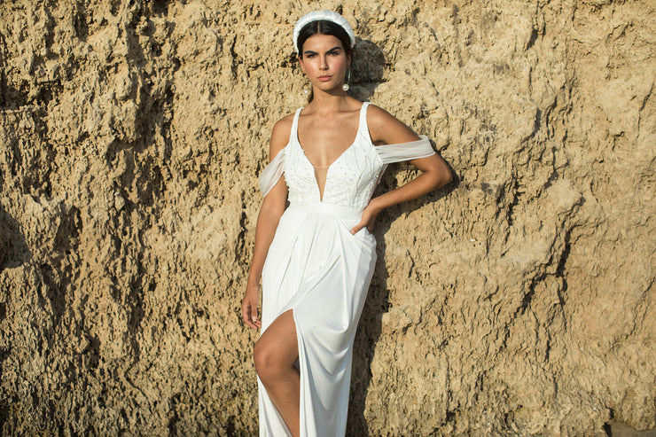 BECKY IVORY WEDDING JUMPSUIT - StudioSharonGuy - Wedding Dress - wedding dresses - beach - boho