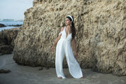 BECKY IVORY WEDDING JUMPSUIT  Wedding Dress - StudioSharonGuy