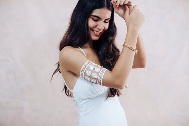 Boho lace arm bracelet - bridal collection  Arm bracelet - StudioSharonGuy