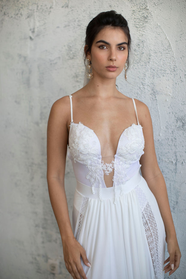 DAINTY LACE BODYSUIT #6 - BRIDAL SEPARATES COLLECTION  Wedding Dress - StudioSharonGuy
