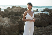 SYDNEY IVORY BRIDAL JUMPSUIT - StudioSharonGuy - Wedding Dress - wedding dresses - beach - boho