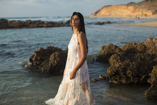 LIRI BOHO WEDDING DRESS - StudioSharonGuy - Wedding Dress - wedding dresses - beach - boho