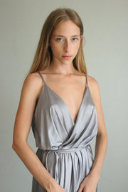 IZABELLE SILVER BRIDESMAID DRESS  dress - StudioSharonGuy