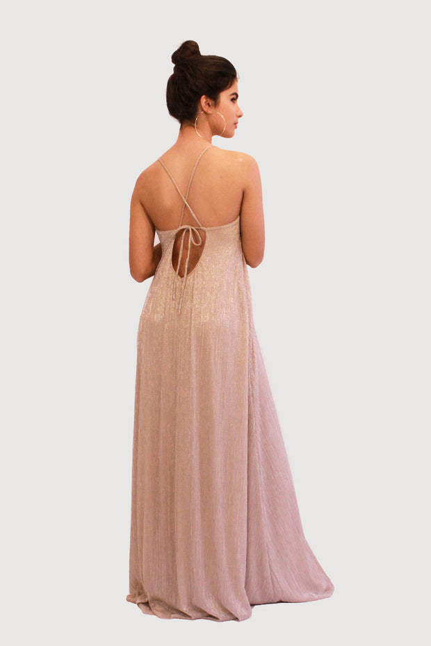 LIZI GOLD BRIDESMAID GOWN  dress - StudioSharonGuy