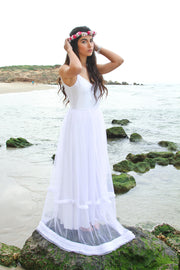 TESS BOHO GOWN  Wedding Dress - StudioSharonGuy
