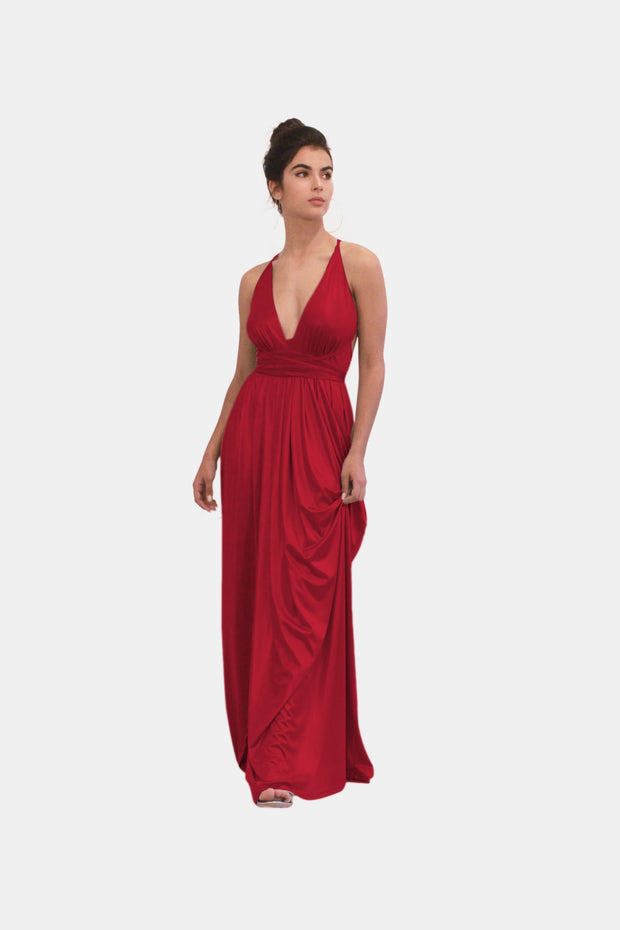 AMBER RED EVENING DRESS - StudioSharonGuy - dress - wedding dresses - beach - boho