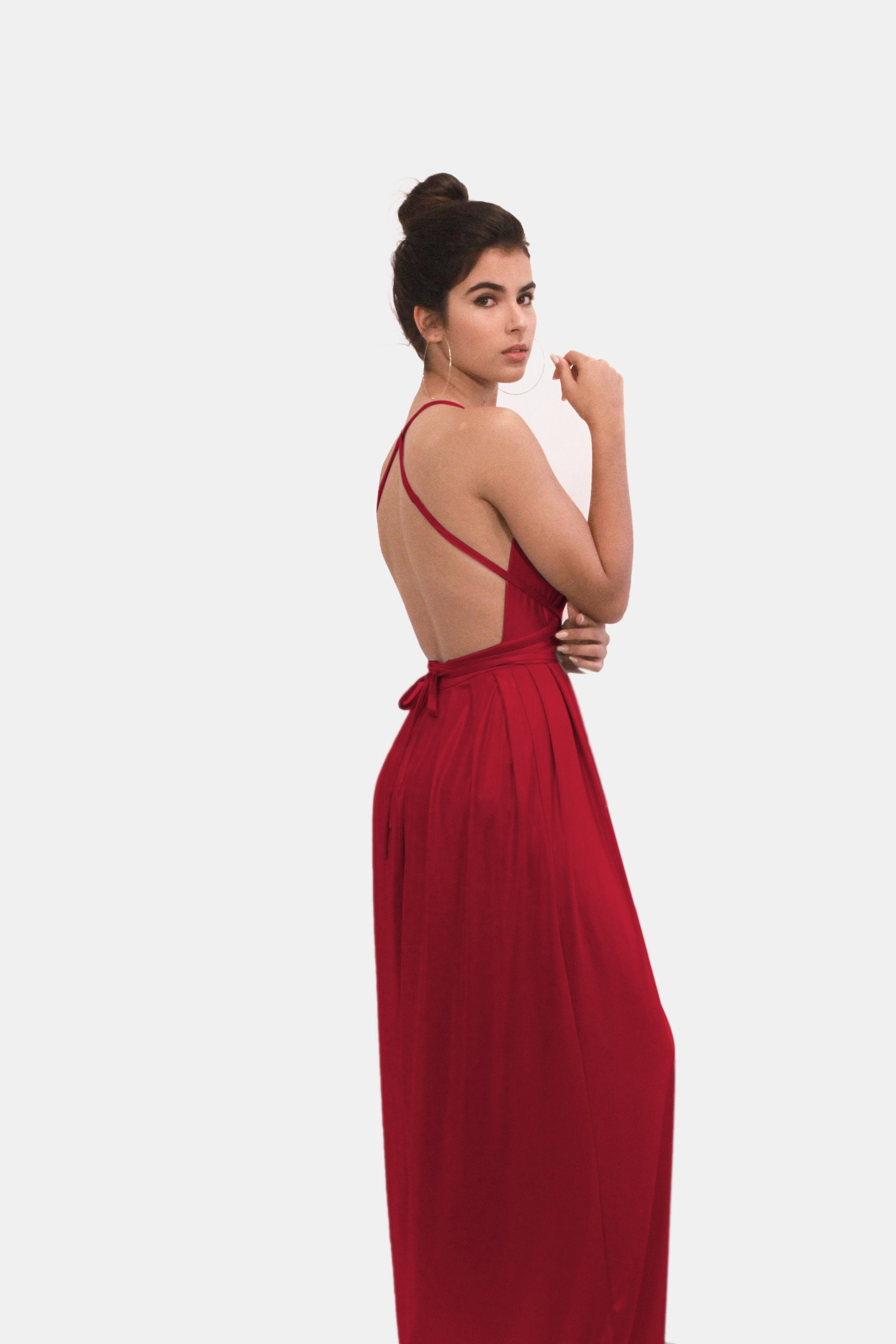 AMBER RED EVENING DRESS
