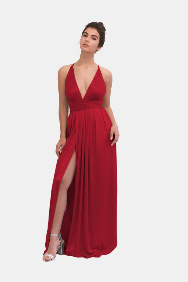AMBER RED EVENING DRESS  dress - StudioSharonGuy